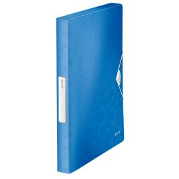 LEITZ Ablagebox WOW, DIN A4, PP, blau-metallic