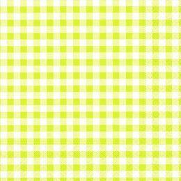 PAPSTAR Motivservietten Vichy Karo, 330 x 330 mm, limonen-