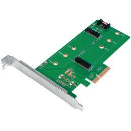 LogiLink Dual M.2 PCI-Express Karte für SATA & PCIe SATA SSD