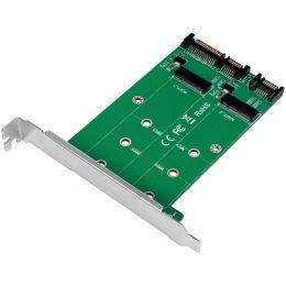 LogiLink 2x SATA - 2x M.2 SATA SSD Schnittstellenkarte