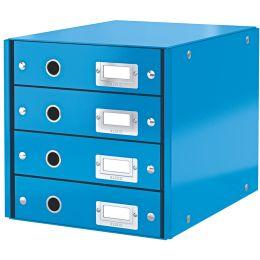 LEITZ Schubladenbox Click & Store WOW, 4 Schübe, blau