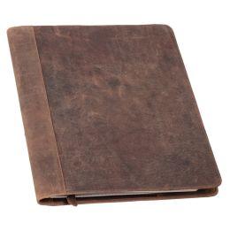 PRIDE&SOUL Schreibmappe WINSTON, DIN A4, aus Leder, braun