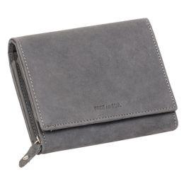 PRIDE&SOUL Damengeldbörse RFID, aus Leder, grau