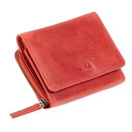 MIKA Damengeldbörse, aus Leder, Farbe: rot