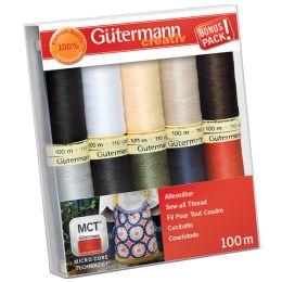 Gütermann Nähfaden-Set Basisfarben, 10 Spulen