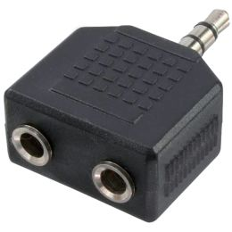 LogiLink Audio-Adapter, 3,5 mm Klinkenstecker - 2x 3,5 mm