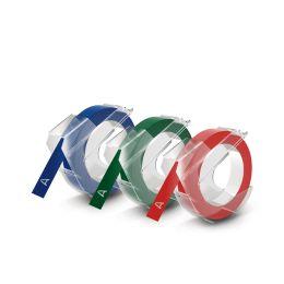 DYMO Prägeband 3D, 9 mm breit, 3 m lang, sortiert, glänzend