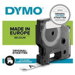 DYMO D1 Schriftbandkassette schwarz/weiß, 12 mm x 3,5 m