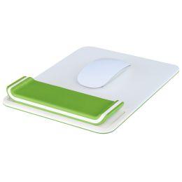 LEITZ Handgelenkauflage Ergo WOW mit Mauspad, weiß/grün