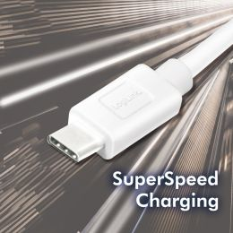 LogiLink USB 3.2 Kabel, USB-A - USB-C Stecker, 0,15 m, weiß
