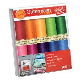 Gütermann Nähfaden-Set Starke Farben, 10 Spulen