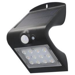 uniTEC Solar-LED-Wandleuchte mit Bewegungsmelder, schwarz