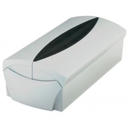 HAN Visitenkartenbox VIP-SET, grau/schwarz