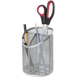 WEDO Stifteköcher Office, aus Drahtmetall, 3 Fächer, silber