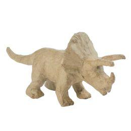 décopatch Pappmaché-Figur Triceratops, 90 mm