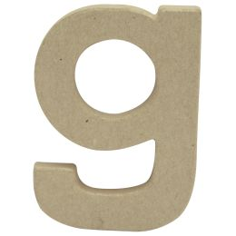 décopatch 3D-Buchstabe g, Pappmaché, 85 x 120 mm