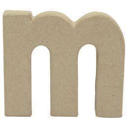 décopatch 3D-Buchstabe m, Pappmaché, 95 x 85 mm