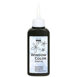 KREUL Window Color Konturenfarbe, glitzer-silber, 80 ml