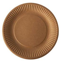 PAPSTAR Papp-Teller pure rund, 190 mm, braun, 50er