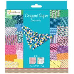 avenue mandarine Origami-Faltblätter Geometric