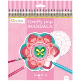 avenue mandarine Malbuch Graffy Pop Mandala, Girl
