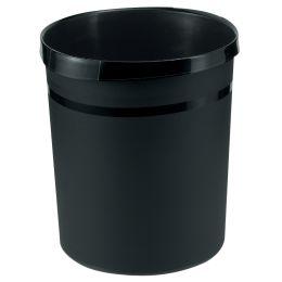 HAN Papierkorb GRIP, PP, 18 Liter, schwarz