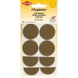 KLEIBER Filzgleiter, Durchmesser: 35 mm, braun