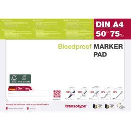transotype Markerblock DIN A4, 70 g/qm, 50 Blatt
