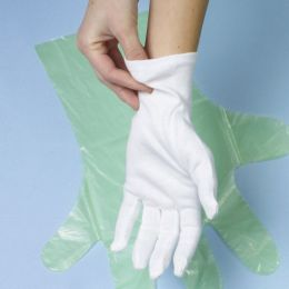 PAPSTAR Baumwoll-Handschuh, weiß, Größe: L, 12er