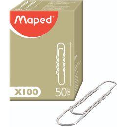 Maped Aktenklammern, vernickelt, 50 mm, gewellt