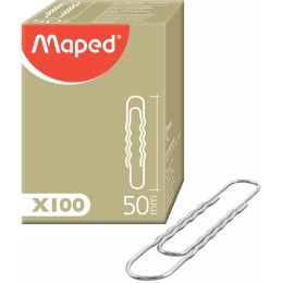 Maped Aktenklammern, vernickelt, 77 mm, gewellt