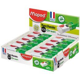 Maped Kunststoff-Radierer Technic 600 Green, 20er Display