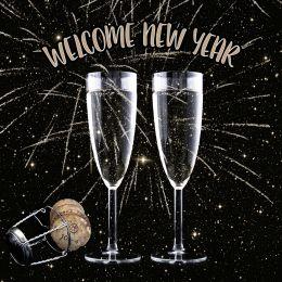 PAPSTAR Motivservietten Welcome New Year