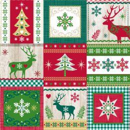 PAPSTAR Weihnachts-Motivservietten Christmas Pattern