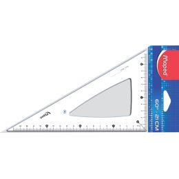 Maped Zeichendreieck Cristal 60 Grad, Kathetenlänge: 210 mm