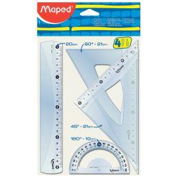 Maped Geometrie-Set Medium Start 242, 4-teilig, transparent