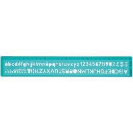 Maped Schriftschablone, Schrifthöhe: 8 mm, grün-transparent