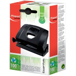Maped Locher Essentials Green 20/25, schwarz