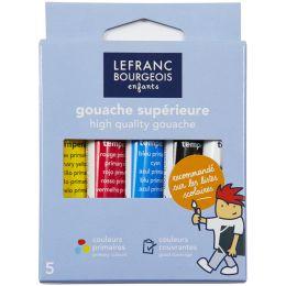 LEFRANC & BOURGEOIS Gouachefarbe, 5 x 10 ml, Etui
