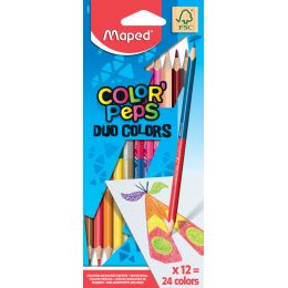 Maped Dreikant-Buntstift COLORPEPS DUO, 12er Kartonetui