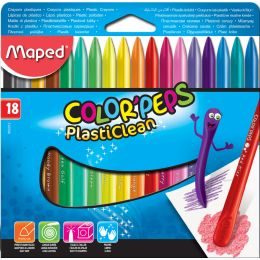 Maped Wachsmalststift COLORPEPS PlastiClean, 18er Etui