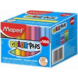 Maped Wandtafelkreide COLORPEPS, rund, farbig sortiert