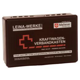 LEINA KFZ-Verbandkasten Standard, Inhalt DIN 13164, schwarz