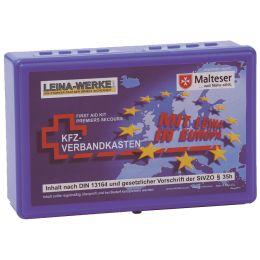 LEINA KFZ-Verbandkasten Euro, Inhalt DIN 13164, blau
