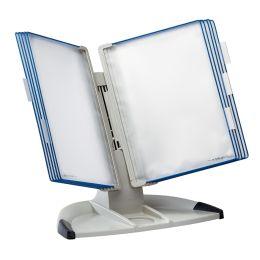 tarifold Tischständer Design, lichtgrau/blau