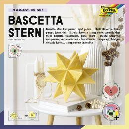folia Faltblätter Bascetta-Stern, 150 x 150 mm, hellgelb