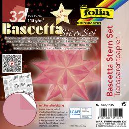 folia Faltblätter Bascetta-Stern, 150 x 150 mm, rosa