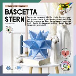 folia Faltblätter Bascetta-Stern, 150 x 150 mm, hellblau
