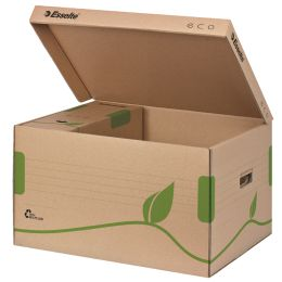 Esselte Archiv-Klappdeckelbox ECO, braun, für Format DIN A4+