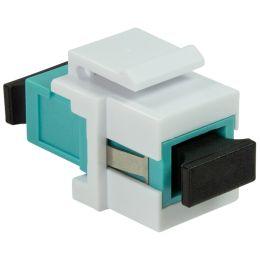 LogiLink LWL Kupplung, 2x SC-Simplex, Multimode, aquablau